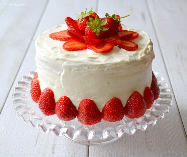 Layer Cake Fraise Sans Mascarpone