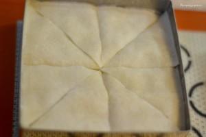 Baklavas avant cuisson