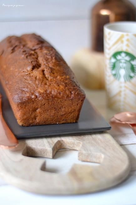 Banana nut bread - Cake à la banane et aux noix, comme au Starbucks