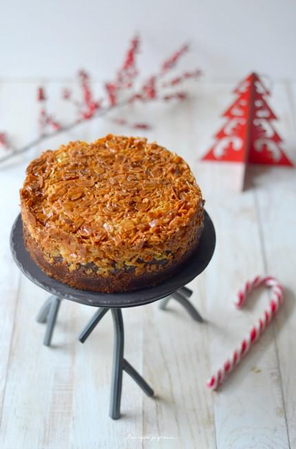 Tosca cake ~ Gâteau suédois aux amandes & au caramel.