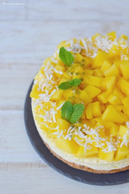 Gâteau bavarois exotique - Passion, mangue & noix de coco !