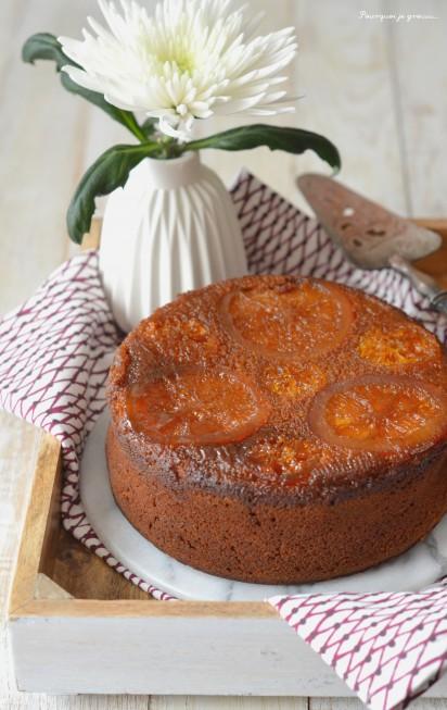 Gâteau moelleux à l'orange & à la fleur d'oranger.
