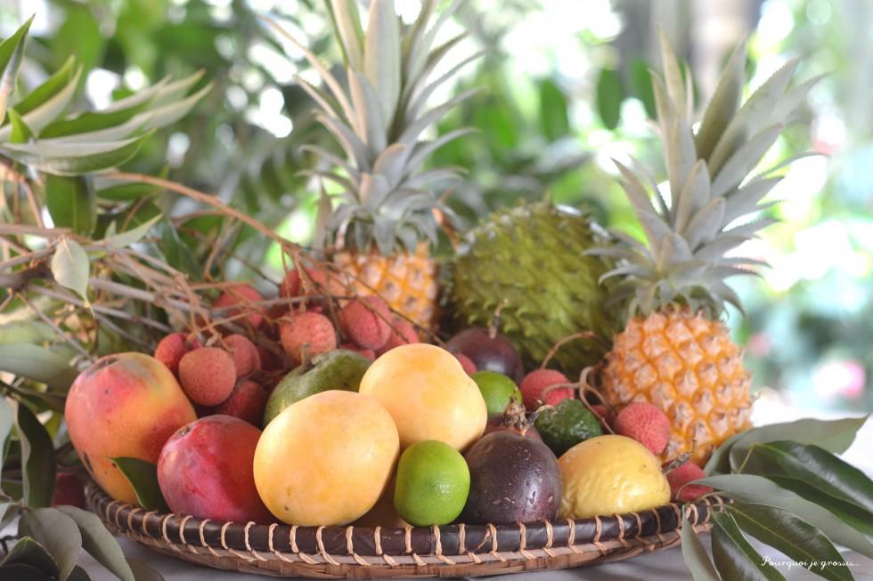 plateau 974 fruits exotiques