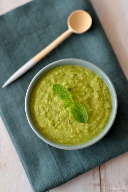 Pesto aux courgettes, menthe & citron
