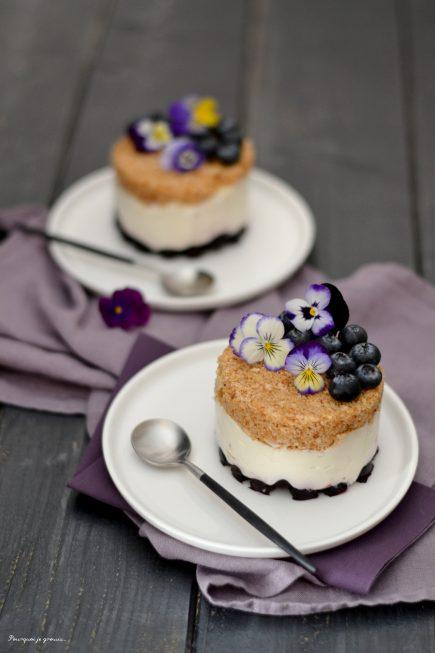 Cheesecake myrtilles & noix de coco