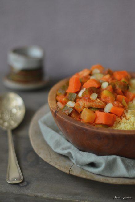 Couscous épicé au poulet & aux légumes.